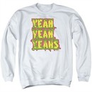 Yeah Yeah Yeahs Sweatshirt Mosquito Adult White Sweat Shirt