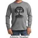 Yoga Black Celtic Tree Kids Long Sleeve Shirt