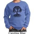 Yoga Black Celtic Tree Kids Sweatshirt