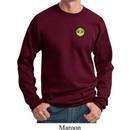 Yoga Buddha Eyes Patch Pocket Print Sweatshirt