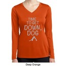 Yoga Get Down Dog Ladies Dry Wicking Long Sleeve Shirt