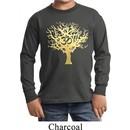 Yoga Gold Foil Tree of Life Kids Long Sleeve Shirt