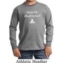 Yoga Heavily Meditated Kids Long Sleeve Shirt