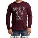 Yoga Namastay at the Beach Kids Long Sleeve Shirt