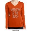 Yoga Namastay at the Beach Ladies Dry Wicking Long Sleeve Shirt