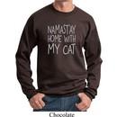 Yoga Namastay Home with My Cat Sweatshirt