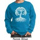Yoga White Celtic Tree Kids Sweatshirt