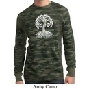 Yoga White Celtic Tree Mens Long Sleeve Thermal Shirt