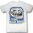 You Mad Shirt U Mad Bro Blue Border Troll Adult White Tee T-Shirt