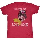 You Mad T-Shirt Me Love You Adult Red Heather Tee Shirt