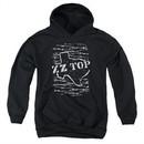 ZZ Top Kids Hoodie Barbed Black Youth Hoody