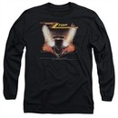 ZZ Top Long Sleeve Shirt Eliminator Cover Black Tee T-Shirt