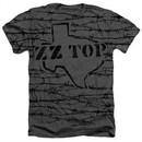ZZ Top Shirt Texas Branded Heather Charcoal T-Shirt