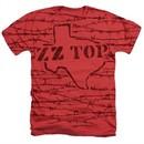 ZZ Top Shirt Texas Branded Heather Red T-Shirt