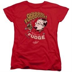 A Christmas Story Womens Shirt Oh Fudge Red T-Shirt