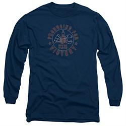 AC Delco Long Sleeve Shirt Spark Plugs Victory Navy Blue Tee T-Shirt