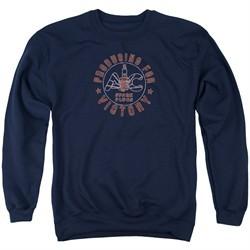 AC Delco Sweatshirt Spark Plugs Victory Adult Navy Blue Sweat Shirt