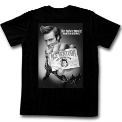 Ace Ventura Shirt BNW Poster Adult Black Tee T-Shirt