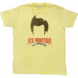 Ace Ventura Shirt Hair Adult Yellow Tee T-Shirt