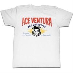Ace Ventura Shirt Your Pets Adult White Tee T-Shirt