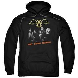 Aerosmith Hoodie Get Your Wings Black Sweatshirt Hoody