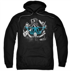 Aerosmith Hoodie Rock N Around Black Sweatshirt Hoody