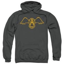 Aerosmith Hoodie Sweatshirt Retro Logo Charcoal Adult Hoody Sweat Shirt