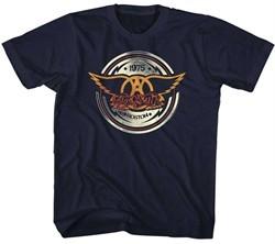 Aerosmith Kids Shirt Boston 1975 Black T-Shirt