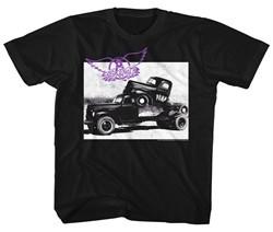 Aerosmith Kids Shirt Pump Black T-Shirt