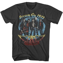Aerosmith Shirt Dream On 1973 Black T-Shirt
