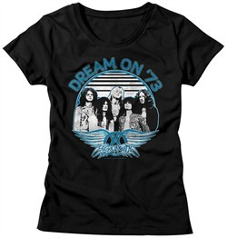 Aerosmith Shirt Juniors Dream On '73 Black T-Shirt