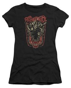 Aerosmith Shirt Juniors Let Rock Rule Black Tee T-Shirt