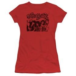 Aerosmith Shirt Juniors Old Photo Red T-Shirt
