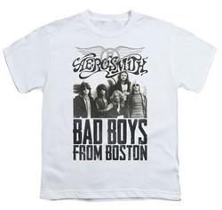 Aerosmith Shirt Kids Bad Boys White Youth Tee T-Shirt