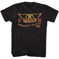 Aerosmith Shirt Permanent Vacation Tour 87-88 Black T-Shirt