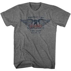 Aerosmith Shirt Property Of And Est. 1970, Boston, MA Grey T-Shirt
