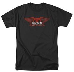 Aerosmith Shirt Winged Logo Adult Black Tee T-Shirt