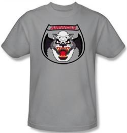 Airwolf T-shirt Patch Adult Silver Tee Shirt