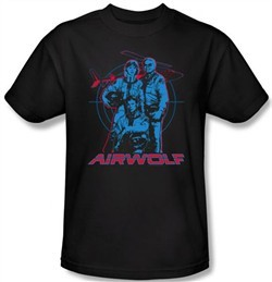 Airwolf Kids T-shirt Graphic Youth Black Tee Shirt