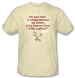 Airplane Shirt Fly Adult Cream Tee T-Shirt