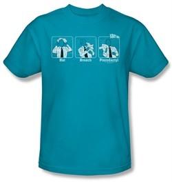 Airplane Shirt Johnny Improv Adult Turquoise Tee T-Shirt
