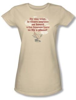 Airplane Shirt Juniors Fly Cream Tee T-Shirt