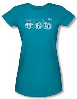 Airplane Shirt Juniors Johnny Improv Turquoise Tee T-Shirt