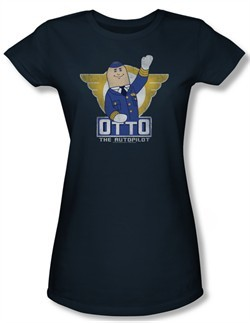 Airplane Shirt Juniors Otto Navy Tee T-Shirt