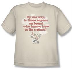 Airplane Shirt Kids Fly Cream Youth Tee T-Shirt