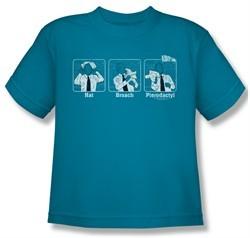 Airplane Shirt Kids Johnny Improv Turquoise Youth Tee T-Shirt