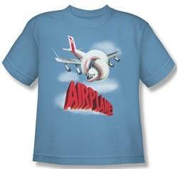 Airplane Shirt Kids Logo Carolina Blue Youth Tee T-Shirt