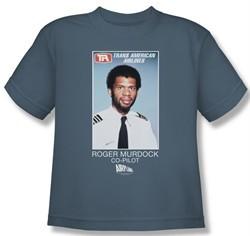 Airplane Shirt Kids Roger Murdock Slate Youth Tee T-Shirt