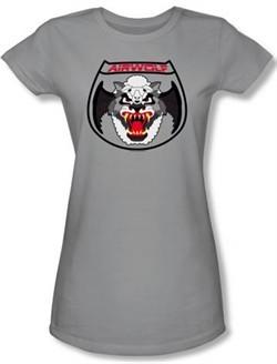 Airwolf Juniors T-shirt Patch Silver Tee Shirt