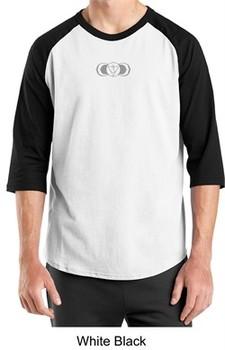 Mens Yoga T-shirt ? AJNA Chakra 3/4 Sleeve Raglan Tee Shirt